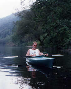 Jeff Kayaking in Eddy    Photo by Angie